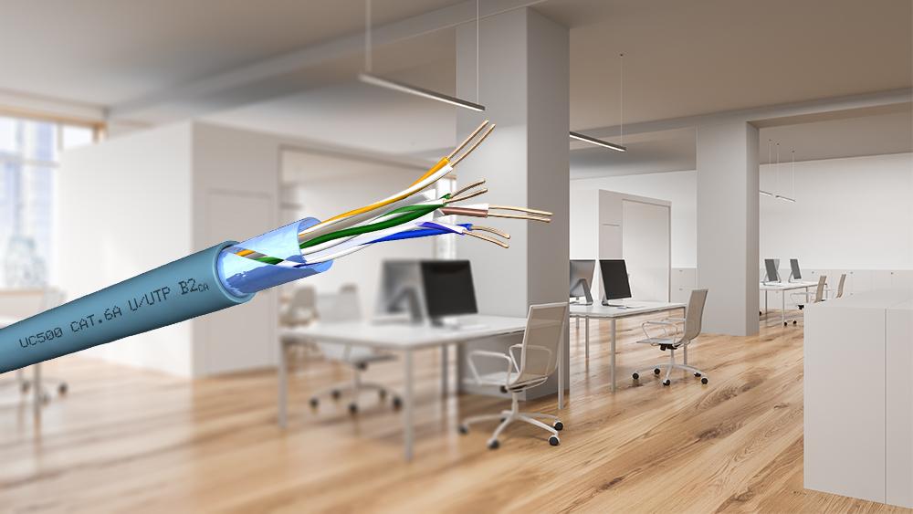 Draka-Kabel: höherer Brandschutz bei gleicher Leistungsfähigkeit