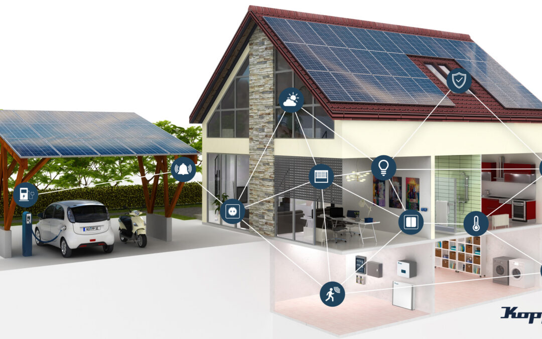 Ganzheitliche Gebäudeautomation mit Energiemanagementfunktion