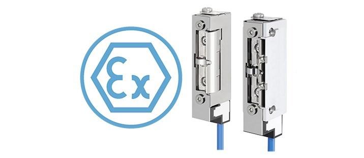 Elektrischer Türöffner mit Rückmeldekontakt für EX-Bereiche